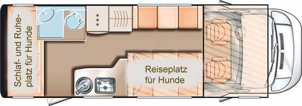 f r hunde optimiert camper dogs. Black Bedroom Furniture Sets. Home Design Ideas